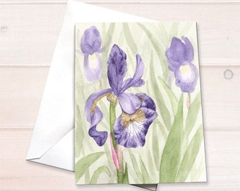 Purple iris Notecard