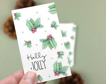 Holly Jolly Holiday Mini Cards