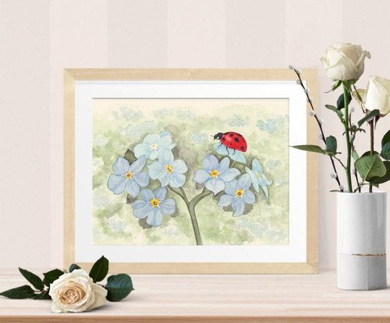 Ladybug watercolor