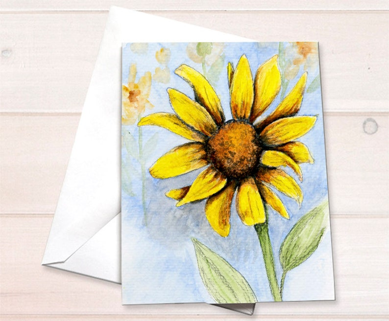 Wholesale  Sunflower Notecard image 0