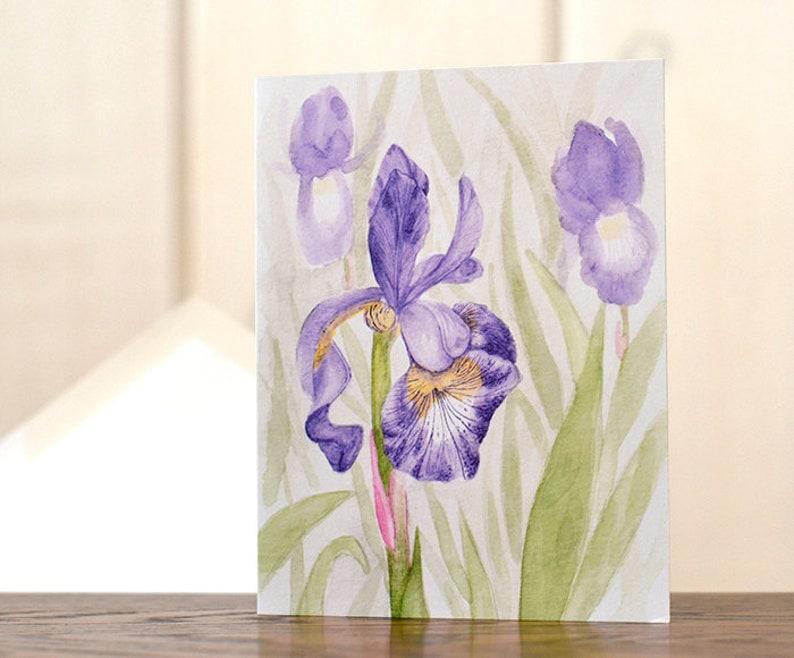 Floral Stationery \u2013 Purple iris