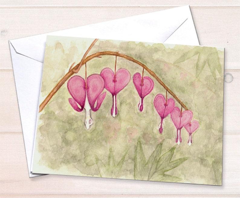 Wholesale  Bleeding Hearts Notecard image 0