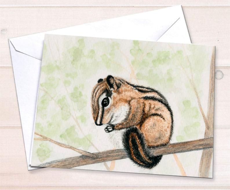 Nature  Chipmunk note card retail image 0