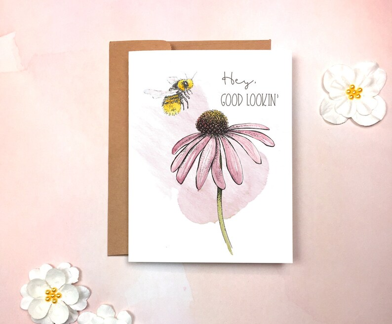 Sweet and Sassy Bee Flirty Love Card image 0