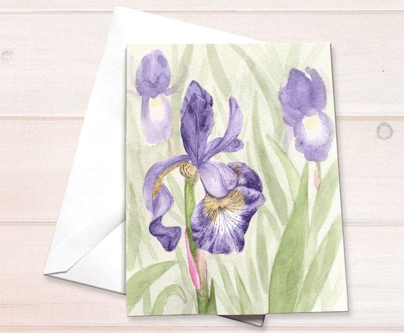 Wholesale  Purple iris Notecard image 0