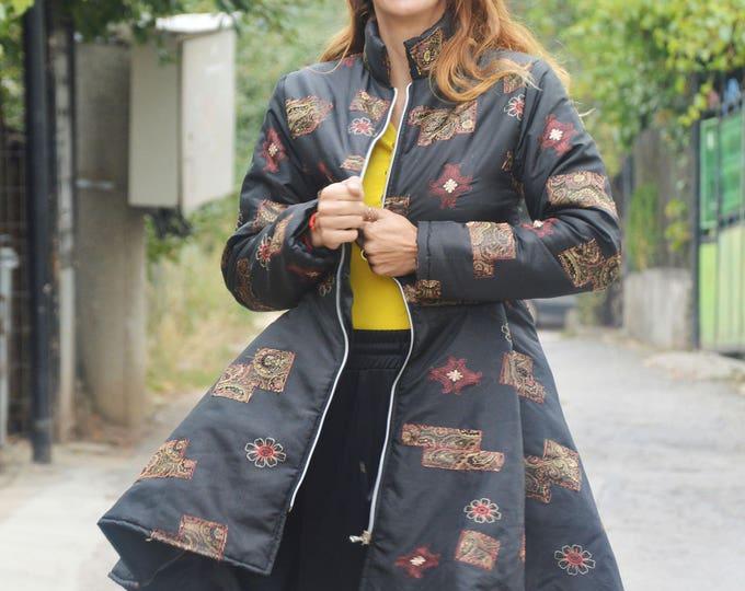 Winter Women Coat, Asymmetric Coat, Plus Size Jacket, Extravagant Coat, Extra Warm Cape Coat, Fashion Long Zipper Jacket by SSDfashion