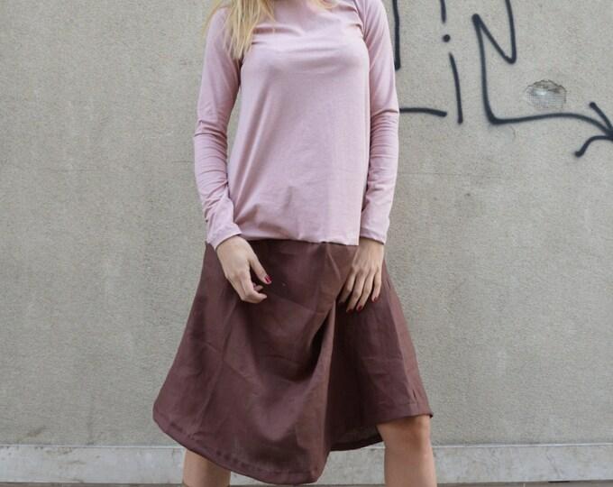 Women's Maxi Dress, Oversize Tunic Top, Long Sleeves Dress, Extravagant Mini Dress, Loose Casual Dress by SSDfashion