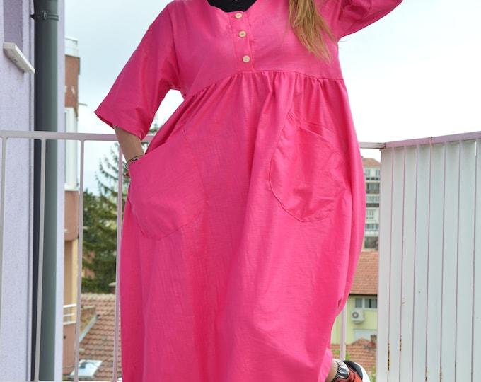 Summer Short Sleeves Dress, Custom Made Dress, Elegant Kaftan, Trendy Woman Dress, Linen Dress by SSDfashion