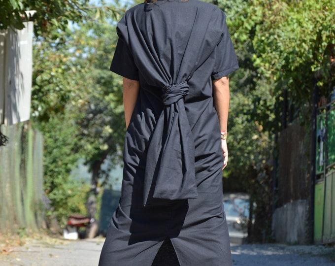 Black Linen Dress, Extravagant Women Dress, Dresses with Short Sleeves, Party Long Dress, Plus Size Kaftan by SSDfashion