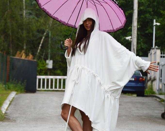 Cotton Hooded Vest, Long maxi dress, Plus size Dress, Party Dress, Long Sweatshirts,Party Dress, Oversize Dress, Plus Size Top by SSDfashion