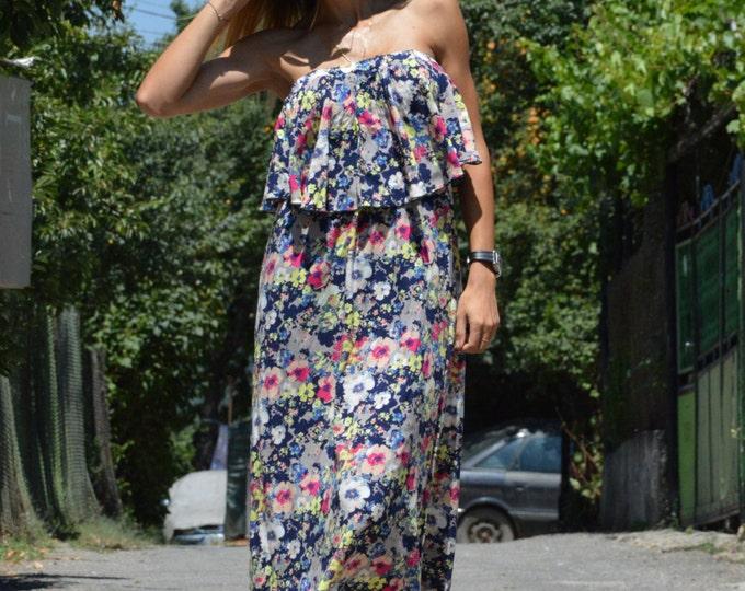 Plus Size Dress, Maxi Dress, Party Dress, Women Flower Dress, Viscose Dress, Loose Ruffle Dress, Summer Party Dress by SSDfashion