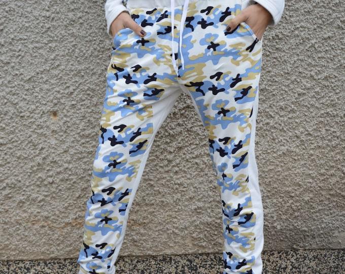 Cotton Military Pants, Casual Drop Crotch Pants, Unisex Pants, Woman Pants, Extravagant Pants, Yoga Pants by SSDfashion