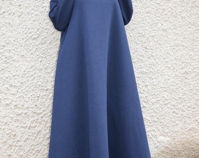 Autumn Winter Turtleneck Maxi Dress, Long women Dress, Plus Size Cotton Dress, Women Dresses, Casual Kaftan Dress by SSDfashion