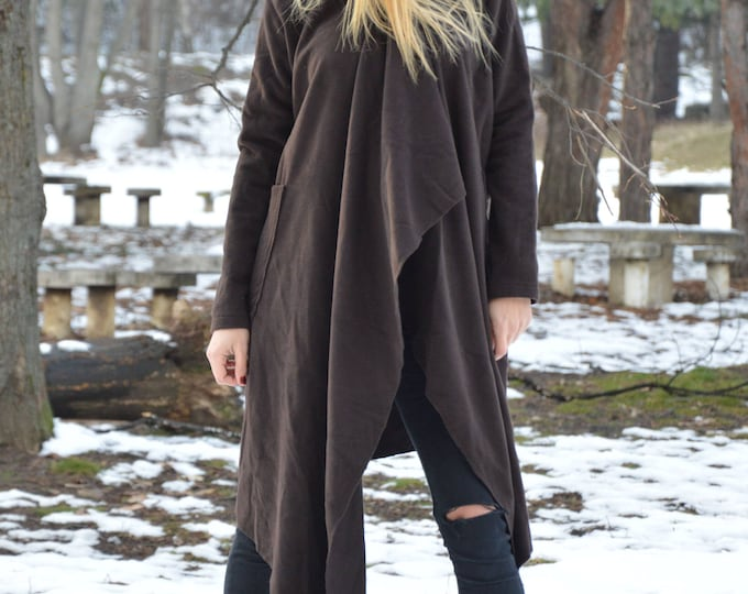 Clothing Autumn Winter Coat, Women Cashmere Coat, Asymmetric Wool Fabric Coat, Trench Coat, Large Side Pockets Fashion Coat by SSDfashion