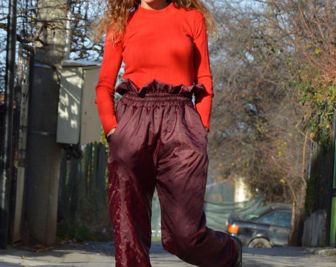 Modern Style High Waist Pants, Extravagant Fashion Design Pants, Large Wide Leg Pants, Maxi Trousers, Everyday Pants by SSDfashion