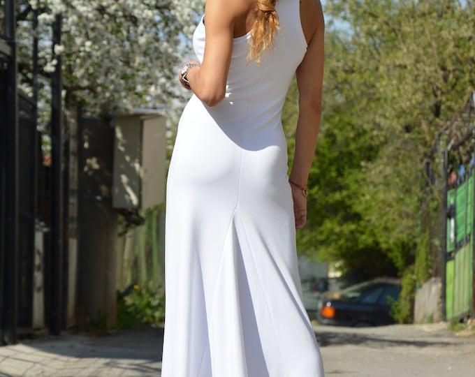 White Summer Dress, Sleeveless Long Dress, Women Dress, Day Dress, Plus Size Dress, Evening Dress, White Dress for Women by SSDfashion