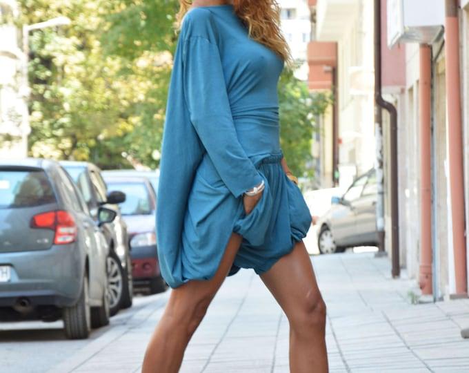 Maxi Elegant Set, Plus Size Set, Loose Shorts, Summer Open Back Blouse, Oversize Pant, Extravagant Tunic Top, Summer Pant by SSDfashion