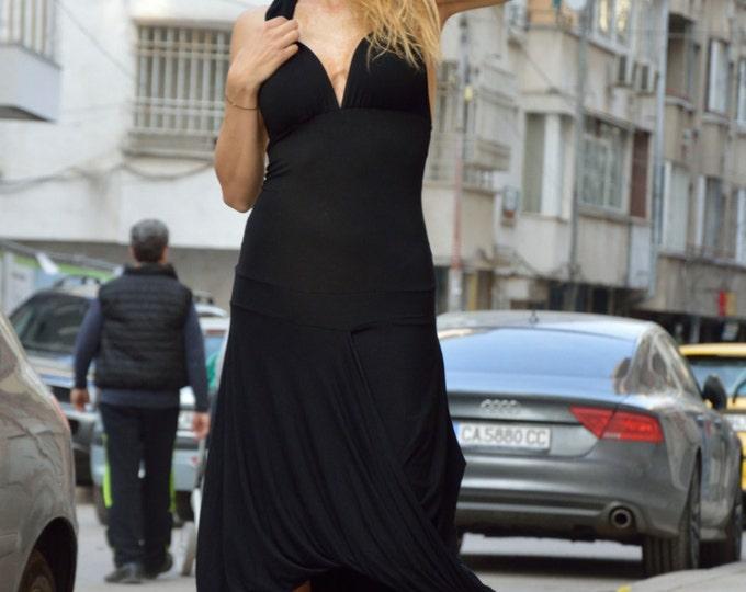 Summer Black Dress, Casual Dress, Women's Day Wear Clothing, Caftan Dress, Viscose Party Dress by SSDfashion