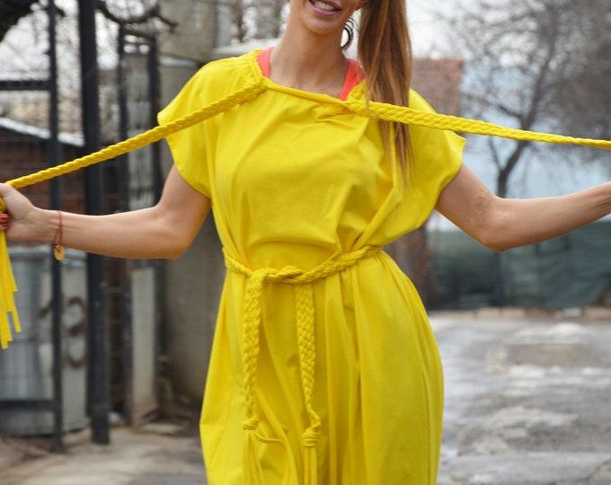 Jumpsuits rompers, Yellow Women Jumpsuit, Union Suit, Summer Jumpsuit, Drop Crotch Wide Cotton Jumpsuit, Plus size Jumpsuit by SSDfashion