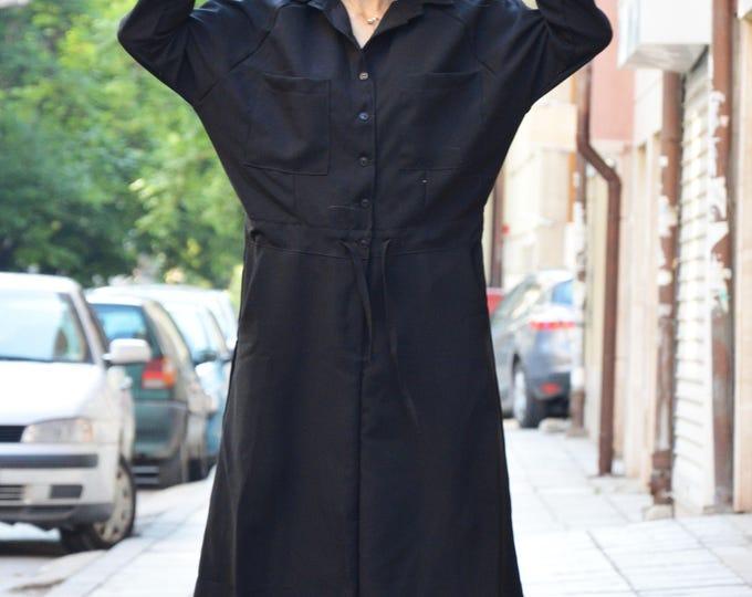 Plus Size Maxi Dress, Black Autumn Dress, Maxi Long Dress With 7/8 Sleeves, Winter Wear, Party Dress, Women Dress by SSDfashion
