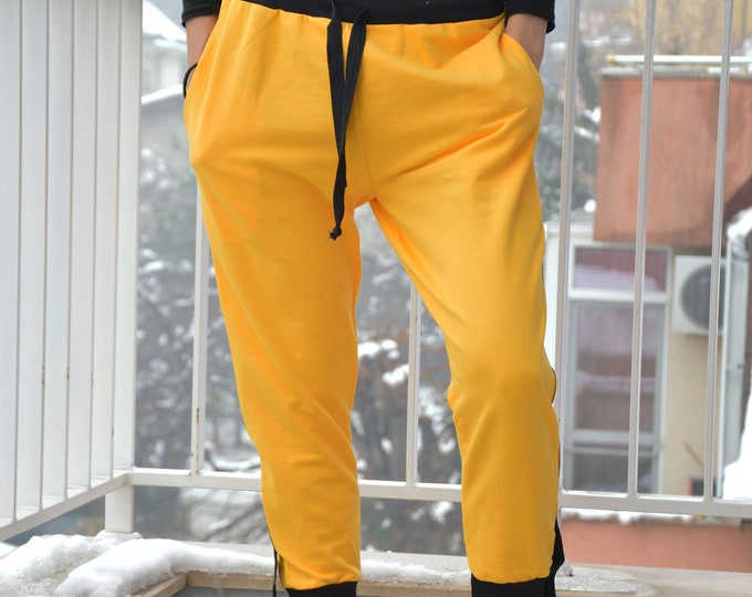 Maxi Yellow Pants, Plus size Pants, Winter Pants, Capris Pants, Womens Harem Pants, Handmade Pants, Maxi Pants, Loose Pants by SSDfashion