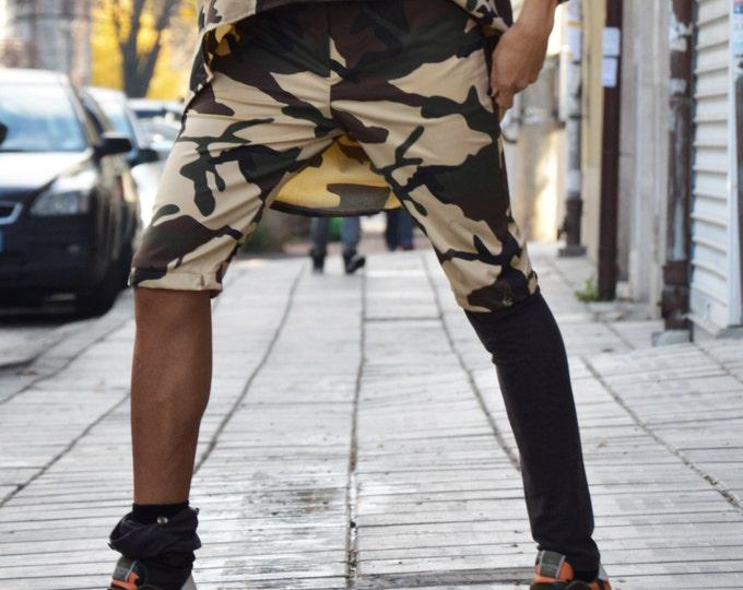 Women's Harem Pants, Loose Cotton Pants, Drop Crotch, Casual Camouflage Pants, Evening Pants, Maxi Trousers by SSDfashion