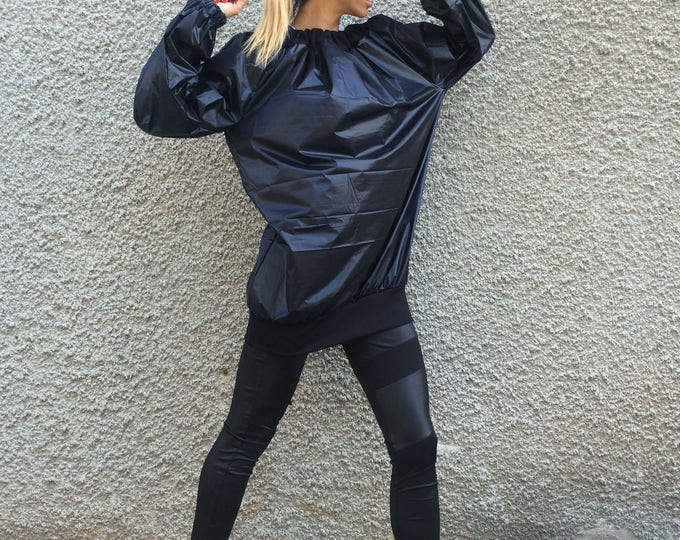 Loose Blouse, Black Jacket, Plus Size Jacket, Active Wear, Tank Top, Extravagant Top, Maxi Jacket, Sport Tunic, Casual Jacket by SSDfashion