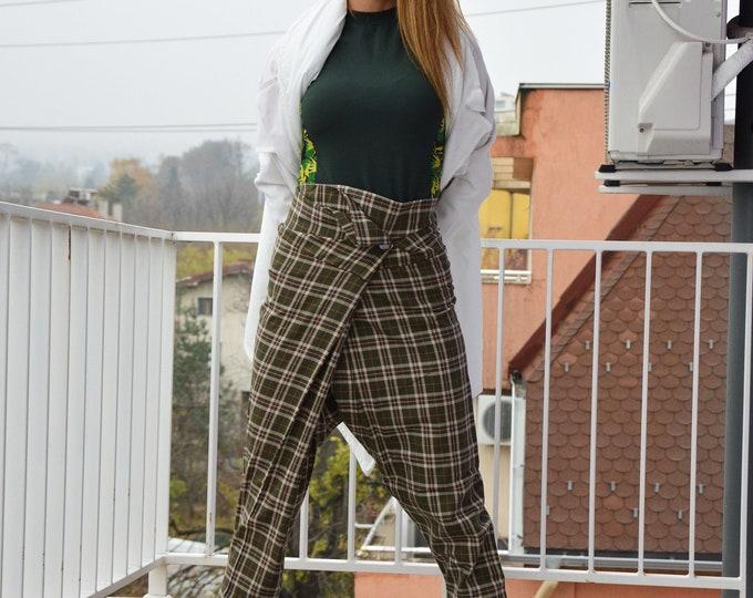 Maxi Drop Crotch Pants, Wool Pants, Women Harem Pants, High Waist Pants, Casual Soft Pants, Warm Pants, Trouser For Women by SSDfashion