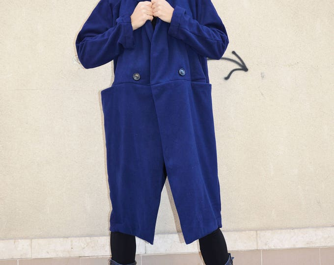 Wool Cashmere Coat, Women Winter Coat, Large Pockets Coat, Autumn/Winter Coat, Fashion Women Coat, Maxi Coat by SSDfashion