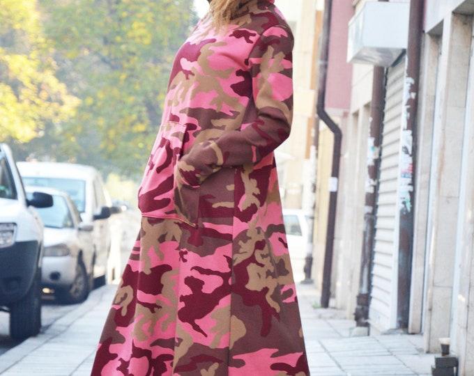 Military Maxi Dress, Women Winter Dress, Long Dress for Women, Cotton Kaftan Dress, Hooded Plus Size Dress by SSDfashion