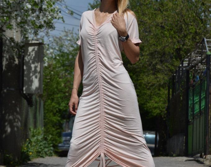 Womens Kaftan, Extravagant Rose Ashes Dress, Long Short Tunik, Sexy Open Back Dress, Asymmetric Caftan by SSDfashion
