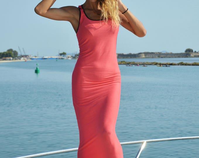 Summer Cotton Dress, Party Extravagant Dress, Maxi Kaftan, Stylish Open Back Dress, Elegant Dress, Fashion Style by SSDfashion