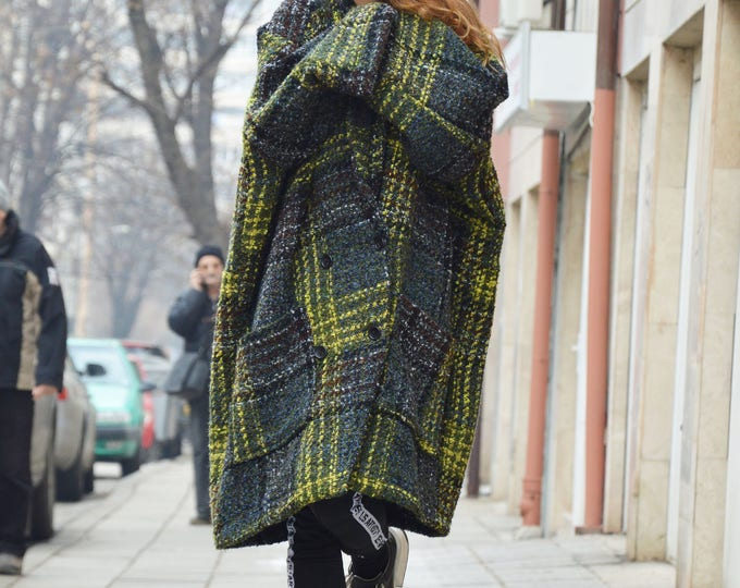 Warm Quality Winter Coat, Asymmetric Wool Boucle Coat, Large Pocket  Women Coat by SSDfashion