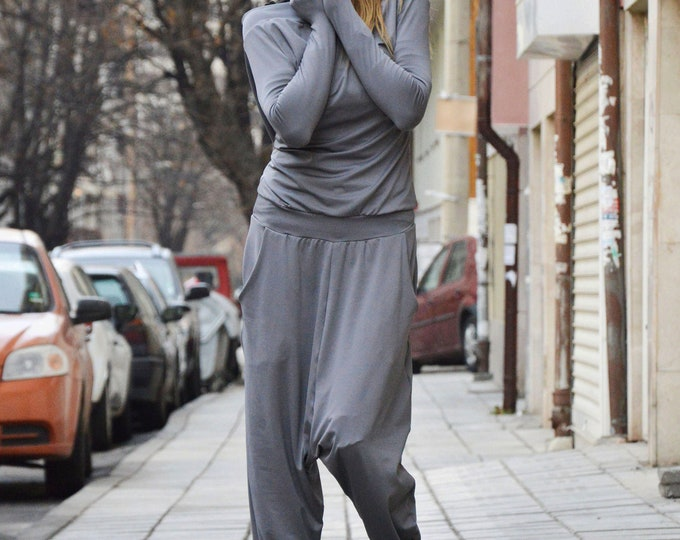 Women Hooded Jumpsuit, Grey Cotton Jumpsuit, Jumpsuits for women,, Rompers, Plus size romper, Rompers for women by SSDfashion