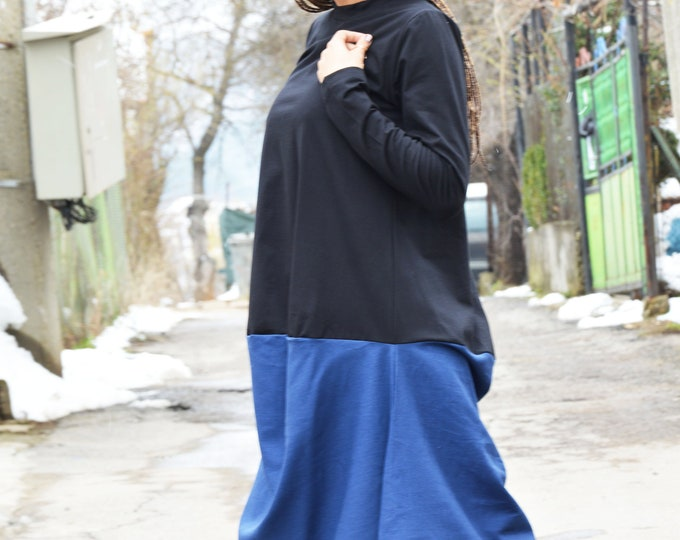 Little Women Maxi Dress, Long sleeved Tunic Top, Extravagant Oversize Dress, Sexy Shirt Dress, Daywear Clothing by SSDfashion