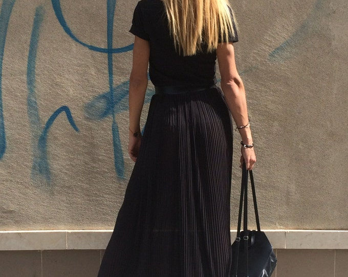 Black Skirt, Solei Skirt, Elastic Skirt, Fashion Skirt, Oversize Boho Skirt, Elegant Skirt, Elastic Skirt, Maxi Skirt by SSDfashion