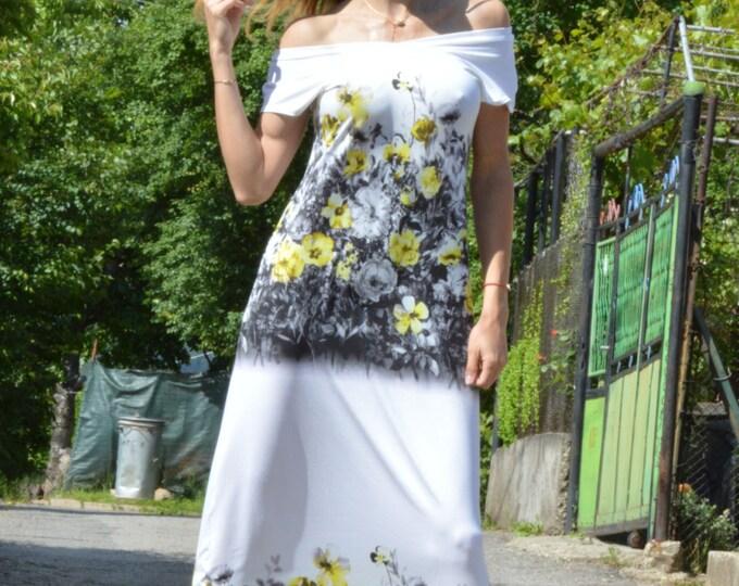 Women Flowers Dress, Cotton Maxi Dress, Long Elegant Dress, Party Dress, Cotton Summer Dress, Plus Size Dress by SSDfashion