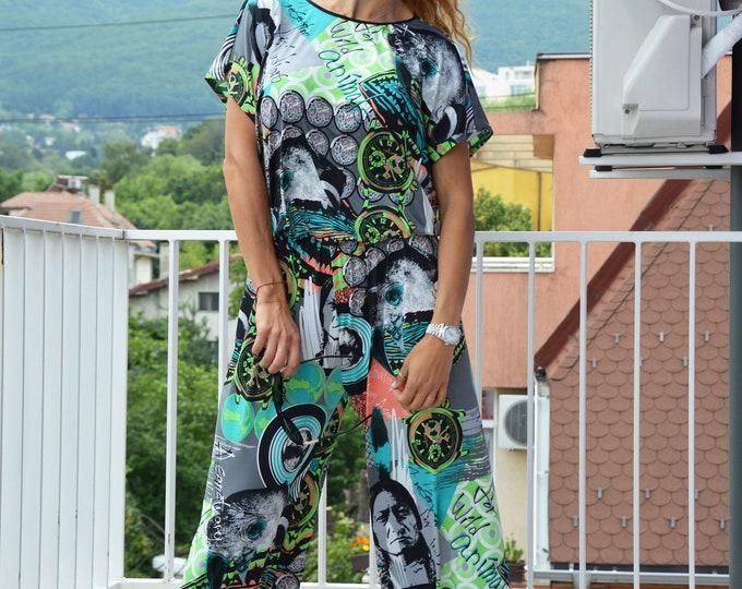 Women Jumpsuit, Summer Colorful Jumpsuit, Union Suit, Loose Casual Drop Crotch Harem Jumpsuit, Maxi Overall by SSDfashion