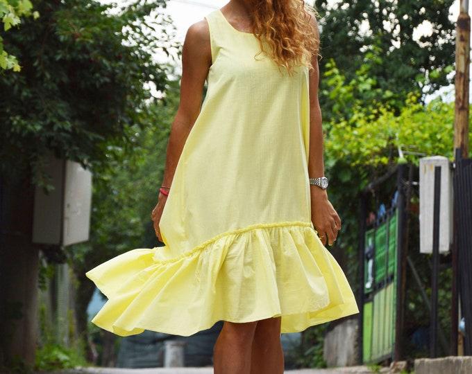 Women's Yellow Veils Dress, Summers Dress, Extravagant Dress, Daywear Dress, Party Dress, Sleeveless Dress, Maxi Dress by SSDfashion