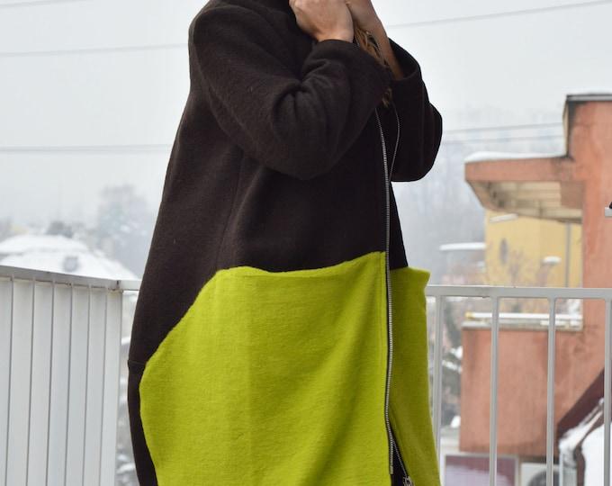 Coat for the New Year, Wool Elegant Coat, Women Coat, Winter Coat, Casual Large Pocket Coat, Oversize Wool Coat, Coat by SSDfashion