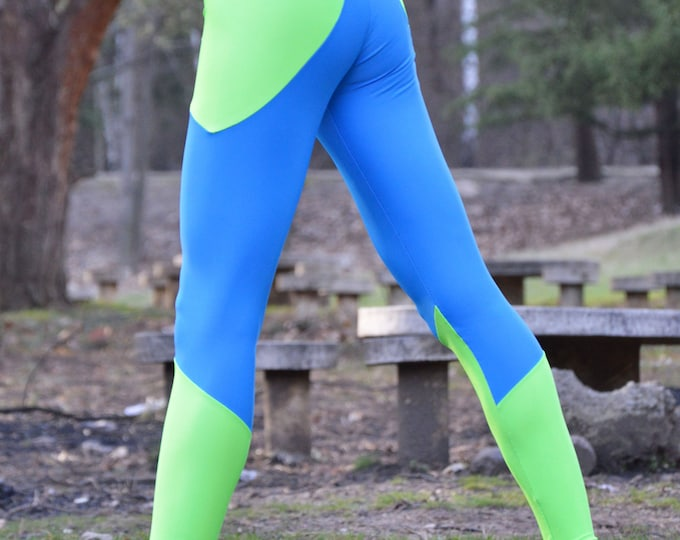 Workout Compression Leggings, Running Stretch Pants, Elastic Casual Leggings, Tight-fitting Design by SSDfashion