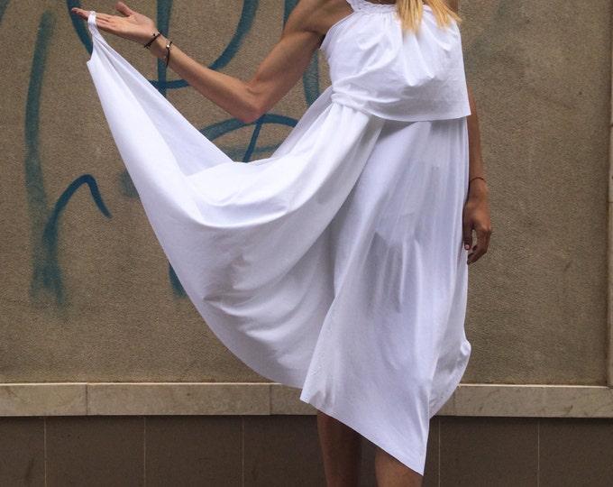 White Tunic, Long Tunic Dress, Summer Maxi Dress, Asymmetric Tunic Top, Maxi Dress, Plus size Tunic Dress by SSDfashion