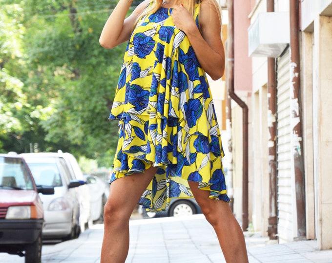 Asymmetrical Set, Loose Shirt and Short, Summer Dress, Extravagant Sleeveless Tunic, Casual Short, Drop Crotch Pants  by SSDfashion