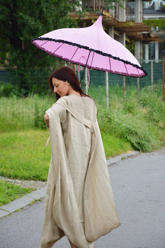 Long Asymmetrical Tunic Maxi Dress Plus Beige Dress by Oversize Kaftan Clothing Size Linen SSDfashion Dress Sexy qtzYU