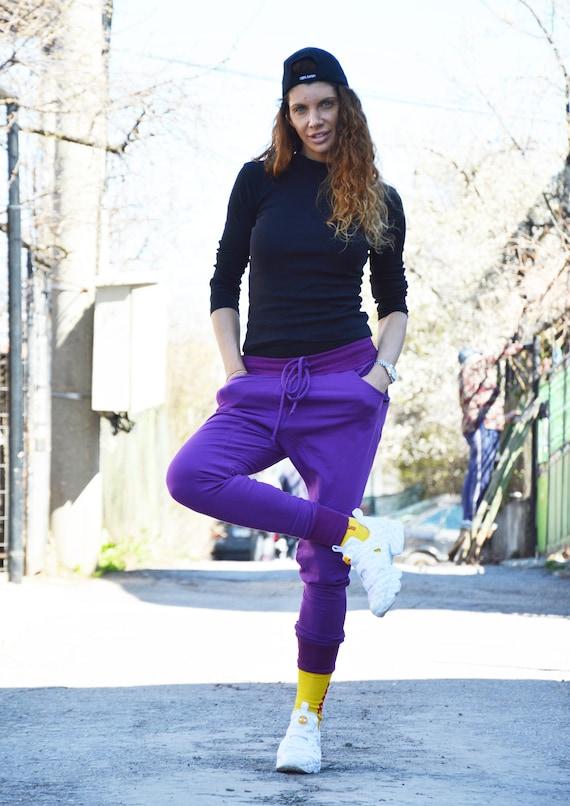 Pocket Pants Pants Zipper Side by Crotch Loose Pants Harem Maxi Pants Sport Pants Extravagant Casual SSDfashion Drop Cotton 6ZqrIw5q