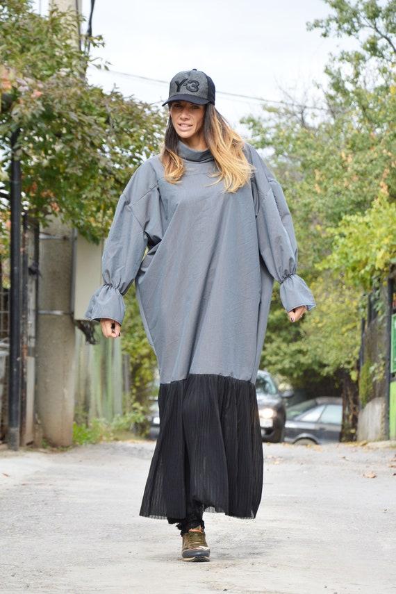 Dress Plus Maxi Dress Street Fashion Turtleneck Size Women Extravagant SSDfashion Cotton Party by Dress Long Dress 0xYaARFwq