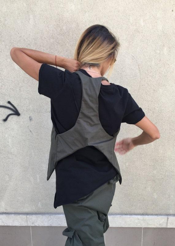 Top Plus Vest Summer Maxi by Asymmetric Vest Vest Clothing Extravagant Size Military Vest Office Vest Sleeveless Vest SSDfashion qWwnXA660F