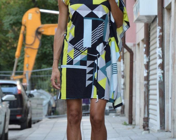 Woman Sexy Mini Dress, Extravagant Dress, Maxi Oversize Dress, Loose Casual Little Dress, Elegant Dress by SSDfashion