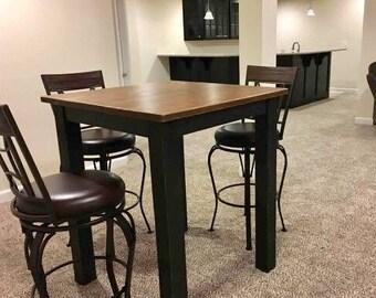 Pub Table Etsy - Distressed wood pub table