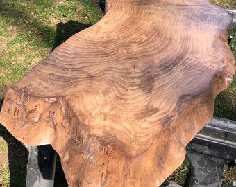 Live edge coffee table slab